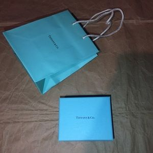 Tiffany & co gift box & shopping bag